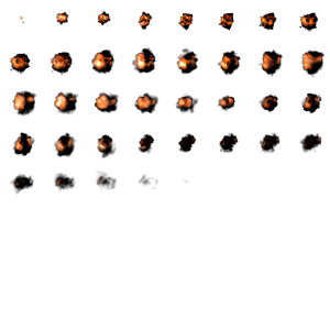 Volumetric explosion sprite sheet